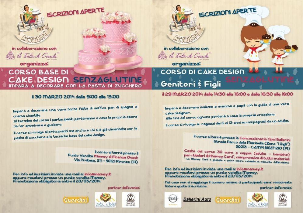 Corso Di Cake Design Gratis Milano : Corsi di cake design senza glutine a Firenze con Le Torte ...
