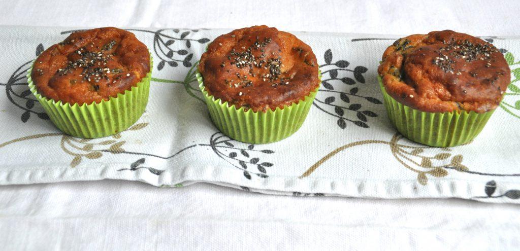muffin gluten free con carciofi e caprino