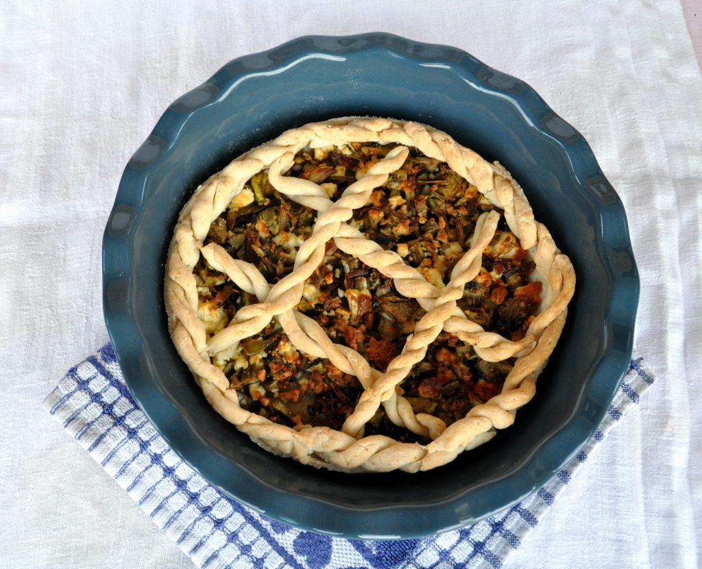 torta-salata-senza-glutine-carciofi