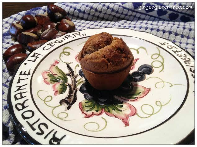 Muffin gluten free con farina di castagne e cuore di ...