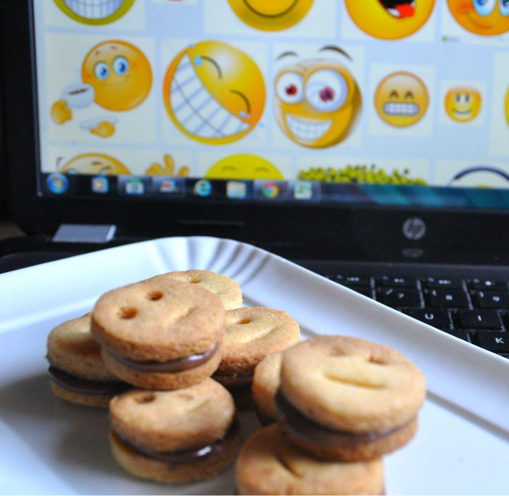 emoticons senza glutine con nutella
