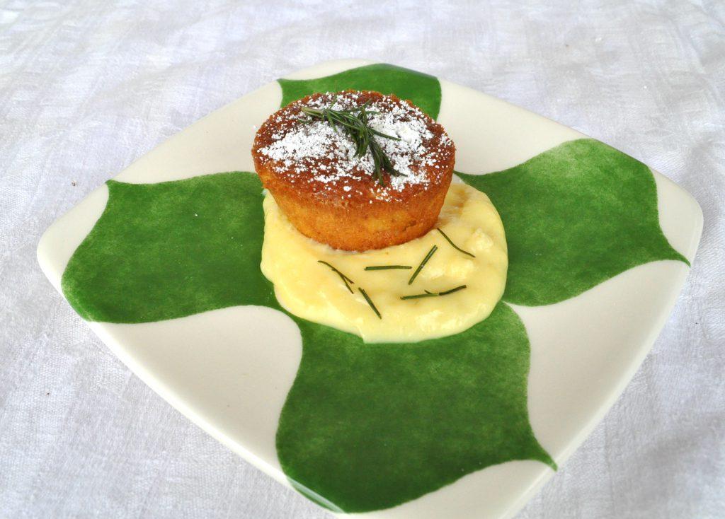 tortini di mele gluten free con crema pasticcera al rosmarino